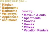 Move in move outs and  all aspects of cleans