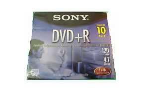 BRAND-NEW SONY 10-Pack Blank DVD+R RW 4.7GB/120min & 20-Pack Flo