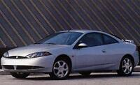 1999 Mercury Cougar and 2000 Mitsubishi Eclipse