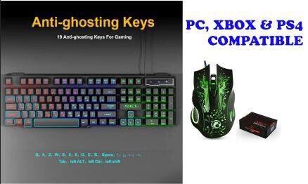 Gaming Keyboard and mouse combo PC Xbox & PS4 compatible | in Hull, East  Yorkshire | Gumtree