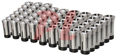 57 Pc 18 To 1 5c Round Collet Set By 64ths Harden Machinist Tool .0006 Tir