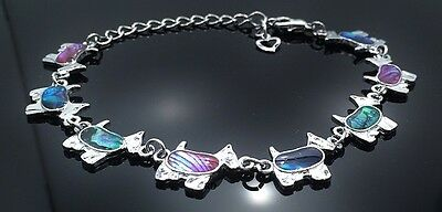 Adjustable Scottish Terrier Lovers  Anklet inlaid with colorful Paua - Scottish Terrier Colors