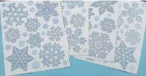 Christmas-Xmas-Glitter-Window-Stickers-Reusable