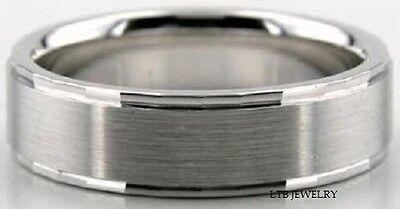 18K Echt Weißgold Herren Trauring Band, 6MM Gold Herren Hochzeit Ring ()