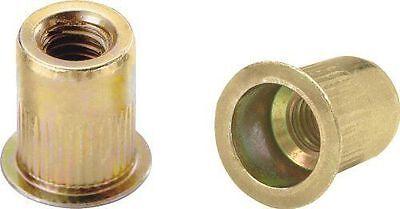 100 Rivet Nuts Ribbed L Series Material Steel Yellow Zinc Thread Size 14-20
