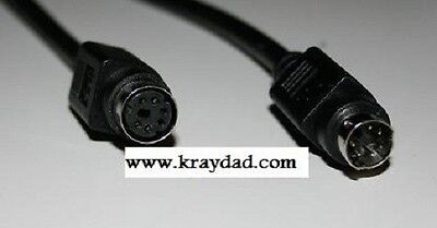 Mini Din 6 Pin PS2 25 ft Black Extension Cable MF Minidin - Mini Din Extension Cable