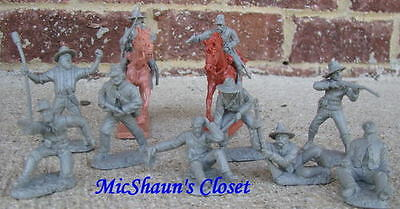 TSSD CONFEDERATE CIVIL WAR ARTILLERY CAVALRY TOY SOLDIERS 54MM 1/32 PLAYSET