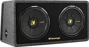 """Kicker - DCompS12 Dual 12"""" Single-Voice-Coil 2-Ohm Subwoofers wi"""