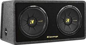 """Kicker - DCompS12 Dual 12"""" Single-Voice-Coil 2-Ohm Subwoofers"""