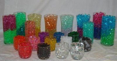 DECO BEADS WEDDING FLORAL CENTERPIECE WATER BEADS GEL CRYSTALS VASE FILL PEARLS - Floral Water Beads