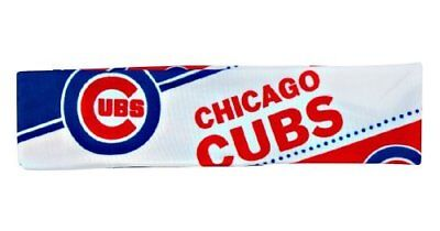 Chicago Cubs Satin Stretch Headband Hairband Womens Ladies MLB