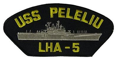 USS PELELIU LHA-5 PATCH NAVY SHIP TARAWA CLASS AMPHIBIOUS ASSAULT PAX PER POTENS