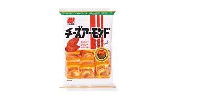 CHEESE ALMOND Senbei Rice Cracker Snack by Sanko Japan
