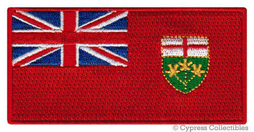 ONTARIO FLAG embroidered iron-on PATCH CANADA EMBLEM Canadian Province APPLIQUE