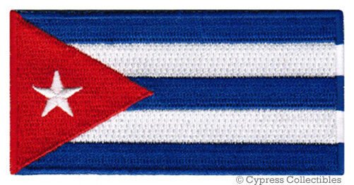 CUBA FLAG embroidered iron-on PATCH CUBAN ISLAND EMBLEM FIDEL CASTRO applique