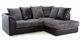 Byron Corner Group Sofa *** Right and Left ,Brown & Beige Black & Grey ***Strong Quality Sofas