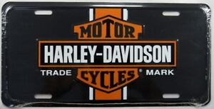 HARLEY-DAVIDSON-METAL-LICENSE-PLATE-MOTORCYCLE-SIGN-TRADE-MARK-NEW-L169