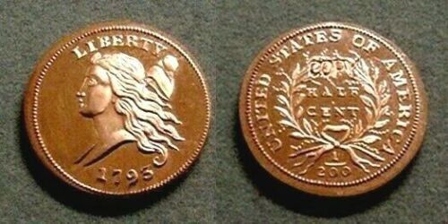 CHOICE PROOF GALLERY MINT 1793 HALF CENT