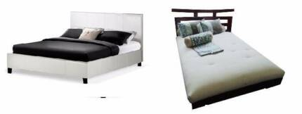 2 sets double bed frame