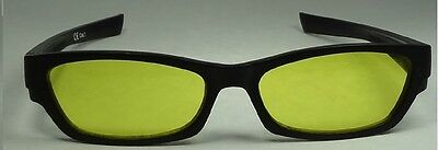 Happyeye Tinted glasses visual stress dyslexia overlays yellow adult coloured