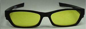 Happyeye Tinted glasses visual stress dyslexia overlays yellow adult coloured