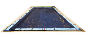 Pool leaf net for inground pool with water tubes included