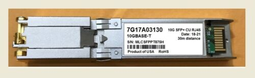 7G17A03130 Lenovo 10GBASE-T SFP+CU SFP-10G-T Transceiver compatible.