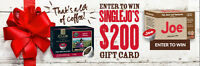 Enter to WIN $200 Coffee Gift Card From SingleJoCoffee.com