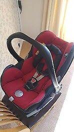Maxi-Cosi Baby Car Seat, Easy Base, and rain cover