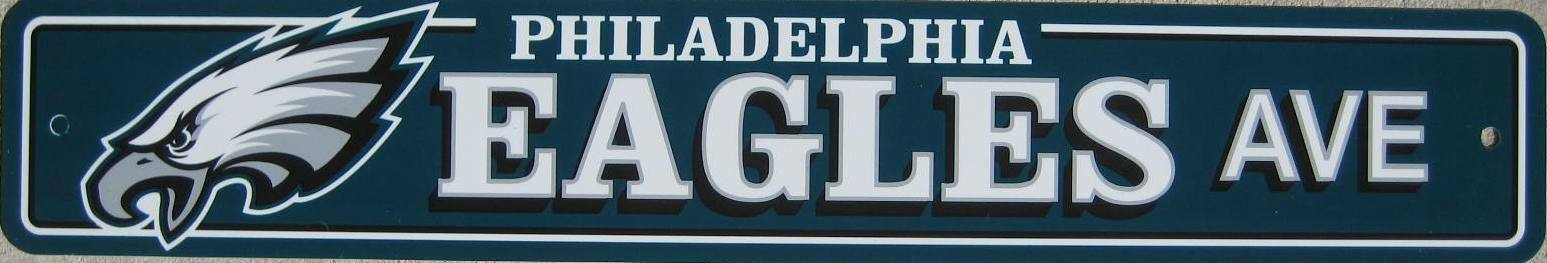 "NFL Football Street Sign Ave 4""x 24"" Pick Team"