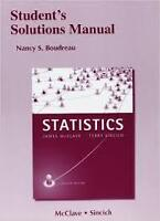 Student's Solutions Manual for Statistics by Nancy Boudreau