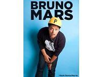 Bruno Mars men arena 2nd & 3rd. £60 each