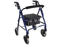 4 wheeled lightweight walking aid