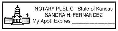 State Of Kansas Custom Rectangle Self-inking Notary Seal Rubber Stamp - Kansas