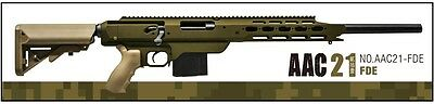 Action Army AAC21-FDE AAC 21 Full CNC Metal Gas Sniper Rifle Airsoft Gun - FDE