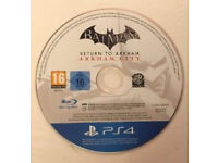 PS4 Batman Arkham City game in mint condition like new