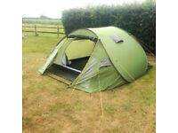Green 4man pop up tent Eurohike fuse 3