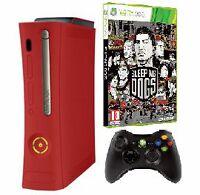 Xbox 360 elite rouge + 1 manette + Sleeping Dog