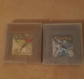 Pokemon Gold and Silver Gameboy Games