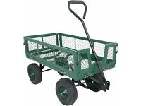 4 wheel garden heavy duty wheelbarrow