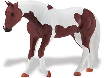 SAFARI LTD. Blue Ribbon Horses AMERICAN PAINT MARE Replica 30021 Retired NEW
