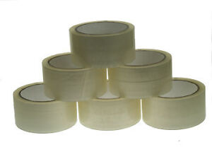 CHEAPEST 6 ROLLS OF CLEAR SELLOTAPE SELLO PACKAGING PARCEL TAPE 48mm x 66m 50mm