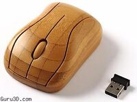 Optical Mouse Unique Bamboo Wireless Mouse With USB Receiver 800DPI