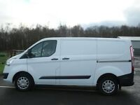 2015 15reg Ford Transit custom 125ps SWB white ew em cd pas cruise plylined bulk head vgc