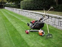 Commercial and industrial lawn mowing