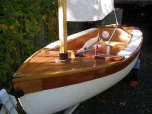 HAND BUILT WOOD  SAILBOAT - $2,800 OBO