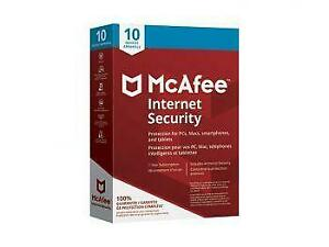 Promo! McAfee Internet Security 2018 (PC Mac Android Chrome iOS) - 10 Users - 1 Year