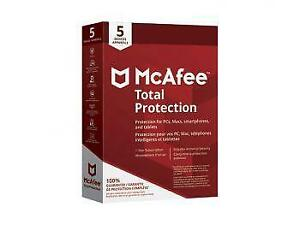 Promo! McAfee Total Protection 2018 (PC MacAndroid Chrome iOS) - 5 Users - 1 Year