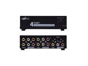 Boxing week !! 1 In 4 Out 3 RCA AV Audio Video Splitter Amplifie