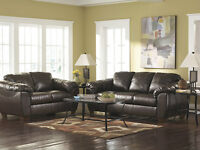 Brand New Leather brown sofa and love seat.